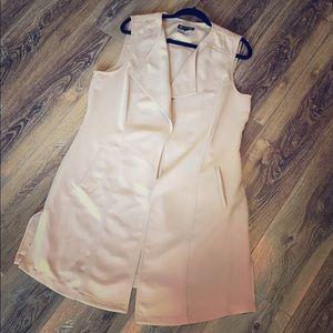 I.N.C. Open-front long vest, tan XL
